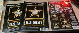 2- Decalcomania Different United States Army Logo Decal Stickers (see pic.) - $19.79