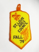 Vintage BOY SCOUTS Patch St Louis Area Council Fall 79 Yellow/Orange Embroidered - $18.00