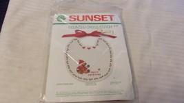 Christmas Bib Merry Christmas Counted Cross Stitch Kit #919 Sunset  BNOS - $14.85
