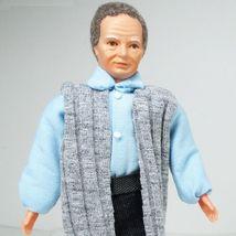 Dressed Grandpa Doll 3107m Caco Grey Vest Flexible Dollhouse Miniature - $36.56