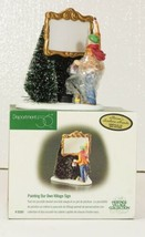 Dept 56 Snow Village PAINTING OUR OWN VILLAGE SIGN #55501 New in Box, 1998 - $14.99