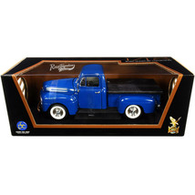 1948 Ford F-1 Pickup Truck with Bed Cover Dark Blue 1/18 Diecast Model Car by... - $65.25