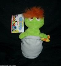 "7"" VINTAGE 1997 GREEN OSCAR THE GROUCH BEANS STUFFED ANIMAL PLUSH TOY SE... - $14.03"
