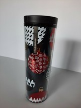 Starbucks 2013 Holiday 16 fl.oz Ornaments Black Plastic Tumbler Drink Tr... - $21.00