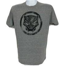 Marvel Black Panther Logo Superhero T-Shirt Medium Black Gray Short Sleeve - $23.76