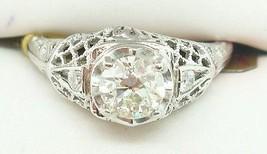 18K Gold European Cut .56ct Genuine Natural Diamond Filigree Ring (#C2360) - $2,195.00