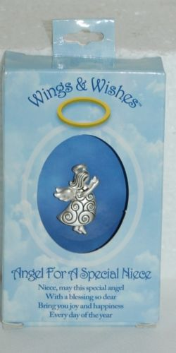 DM Merchandising Wings Wishes Special Niece Silver Colored Angel
