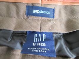 Ladies brown plaid stretch dress pants Size 6 by GAP   MKS265 - $10.86