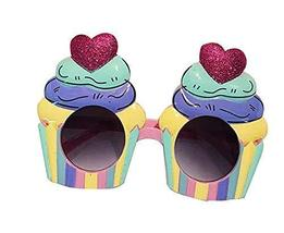 Funny Party Glasses Ice Cream Glasses Party Supply Multicolor - £13.71 GBP