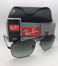 New RAY-BAN Sunglasses THE COLONEL RB 3560 002/71 61-17 Black Aviator w/ Grey - $179.95