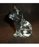 "crystal sitting cat paper weight 3.5"" - $14.50"