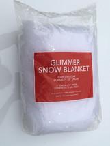 [1] Glimmer white Snow Blanket Glitter tree trim Christmas decoration vi... - $7.00