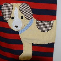 MudPie Puppy Polo One Piece Red Blue Cambray Collar 12 to 18 Months image 3