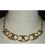 AVON Oval Open Work Basket Design Gold Tone Choker Necklace Vintage - $19.80