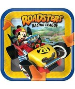 Mickey Roadster Racers Lunch Plates Birthday Party Supplies 8 Per Packag... - $4.90