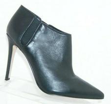Ivanka Trump 'Sirra' black leather pointed toe elastic slip on bootie heels 8M - $37.04