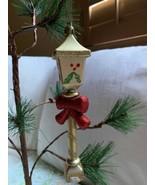Vintage Street Lamp Tree Ornament Nostalgic House Village Christmas Deco... - $23.38