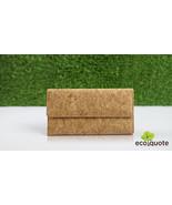 EcoQuote EcoFriendly Handmade Tri Fold Letter Long Wallet Wristlet Cork ... - $31.00