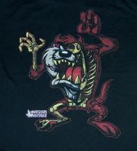 Looney Tunes Zombie Tasmanian Devil TAZ Figure Black T-Shirt SIZE XL NEW... - $21.19