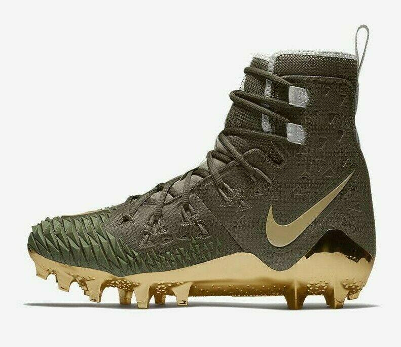 Nike Force Savage Elite TD Mens Football Cleat Olive Green Gold AH6424 271 image 2