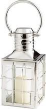 Candleholder CYAN DESIGN REMINGTON Medium Nickel Glass - $362.50
