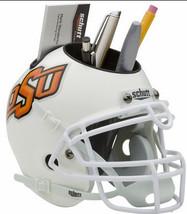 Oklahoma State Cowboys (White) NCAA Football Schutt Mini Helmet Desk Caddy - $21.95
