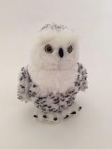 """GANZ WEBKINZ white black SNOWY OWL 9"""" NO CODE plush stuffed animal toy - $11.29"""