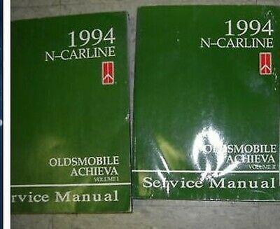1994 Olds Oldsmobile Achieva Service Reparatur Shop Manuell Set Autohaus 94
