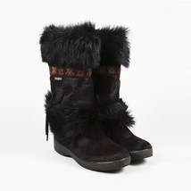 Tecnica Brown Fur Boots SZ 10 - £106.39 GBP
