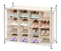 Shoe Organizer 4 Tier 16 Cube Storage Beige Sho... - $62.02