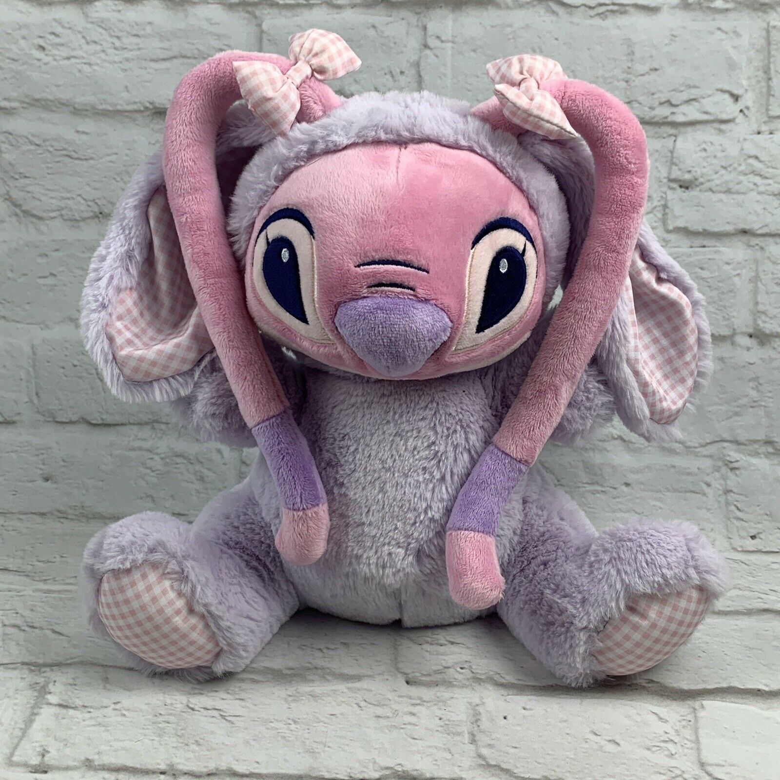 Disney Store Angel Bunny Plush 11'' LILO and Stitch Gift Easter Bunny Basket