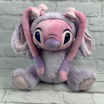 Disney Store Angel Bunny Plush 11'' LILO and Stitch Gift Easter Bunny Basket image 1