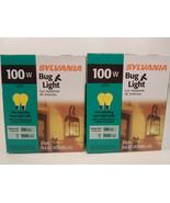 Yellow Bug Light Bulb 100W Watt Sylvania 4 Pack Outdoor Porch Non-attrac... - $12.95