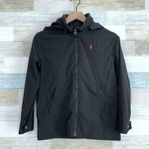 Polo Ralph Lauren Hooded Jacket Black Windbreaker Kids Youth Size Medium... - $34.64