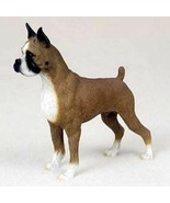 BOXER CROPPED DOG Figurine Statue Hand Painted Resin Gift Pet Lovers Fawn - $19.99