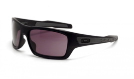 "New OAKLEY Sunglasses TURBINE OO9263-01 Matte Black Frames with Square ""O"" LOGO"
