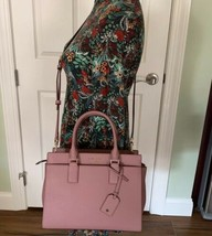 Kate Spade Cameron Medium Satchel Crossbody Dusty Peony Bag Handbag WKRU... - $220.54 CAD