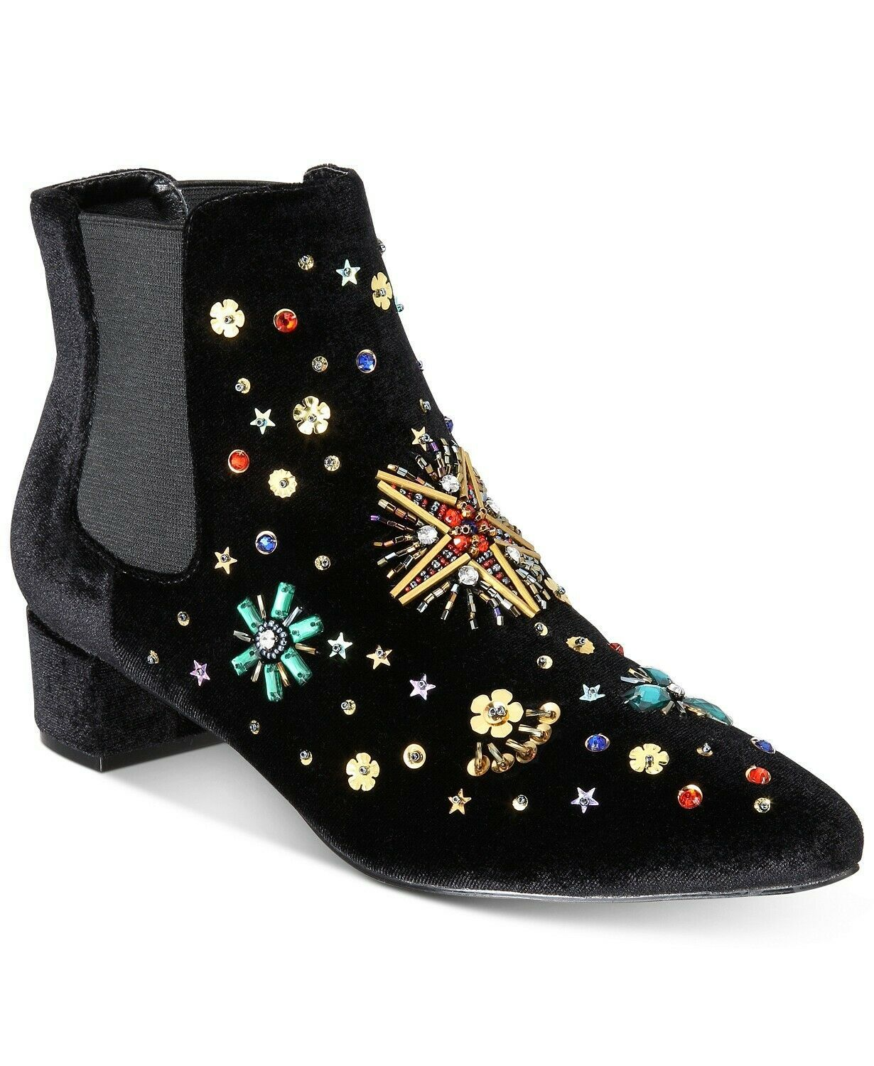 Primary image for Betsey Johnson JAX Bootie Black Velvet, Size 5