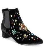 Betsey Johnson JAX Bootie Black Velvet, Size 5 - $45.64 CAD