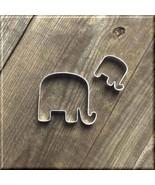 Set of 2 Elephant Metal Cookie Cutters #NAWK3 - $2.50
