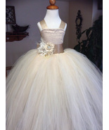 New Arrival Cheap Flower Girls Dress With Flowers Tulle Evening Party Go... - $68.44
