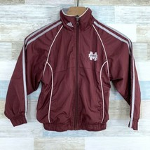 Adidas NCAA Mississippi State Bulldogs Windbreaker Lined Jacket Youth Size Large - $24.74