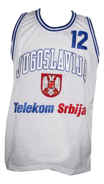 Vlade divac jugoslavija yugoslavia basketball jersey white   1