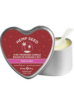 Valentines Day Hemp Seed 3 In 1 Massage Scented Candle Truth Or Dare 4oz - $12.34