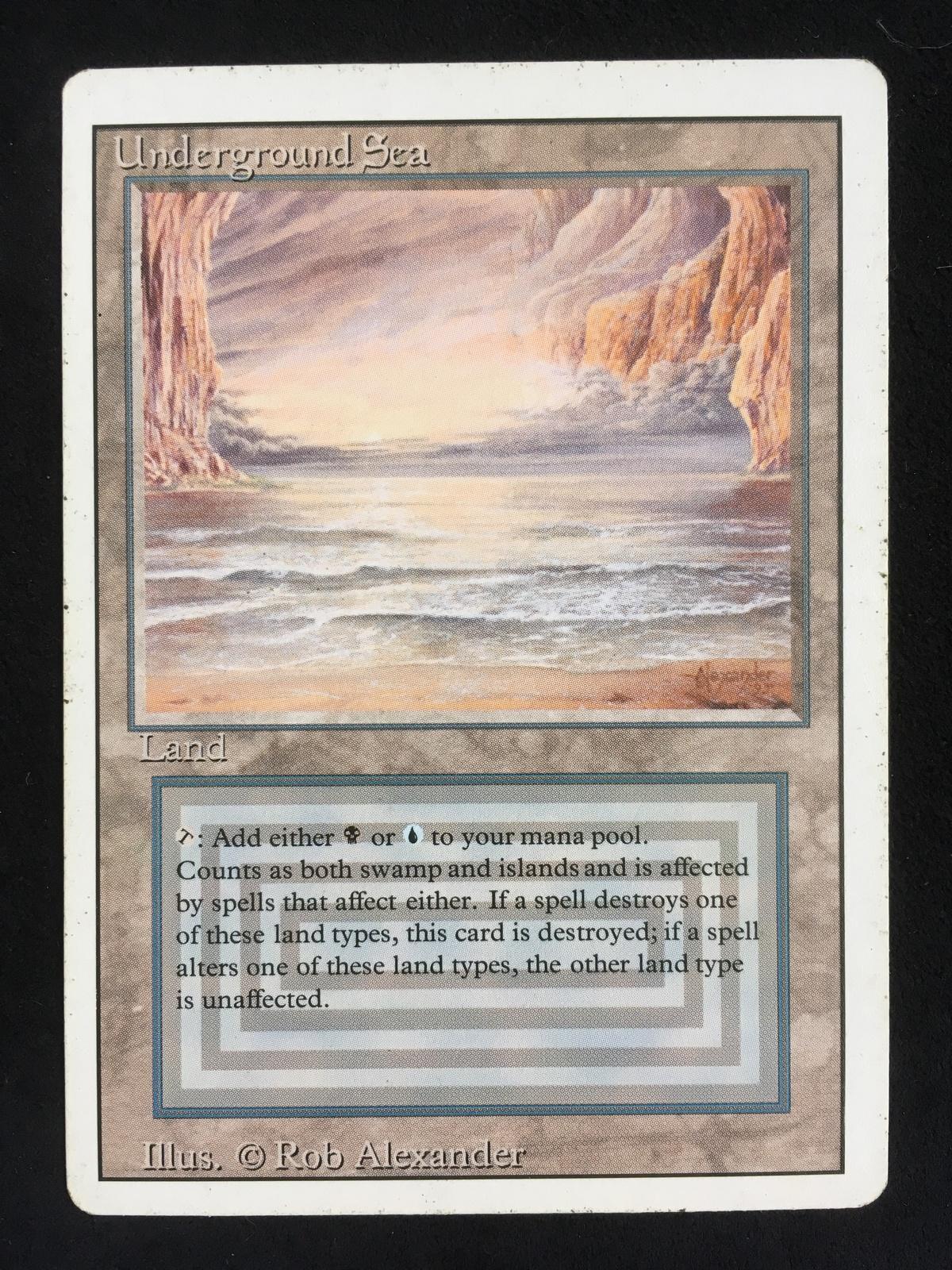 Magic: the Gathering Revised Edition Underground Sea Dual ...