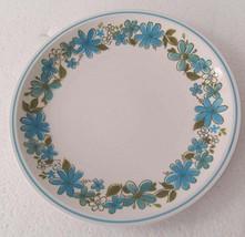 "Mikasa Cera Stone Di575 ""GIGI"" Collectible Blue Flowers Coupe Dinner Pla... - $26.99"