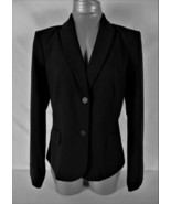 CALVIN KLEIN womens Sz 10 L/S black 2 button FULLY LINED jacket (B4) - $44.88