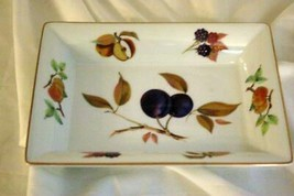 "Royal Worcester 2015 Evesham Gold Rectangular Tray 8 1/2"" - $18.89"