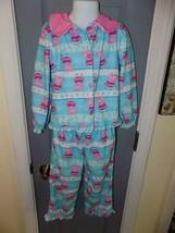 Peppa Pig 2 Pc Fleece Button Up Pajama Set Size 4T Girl's EUC - $16.20
