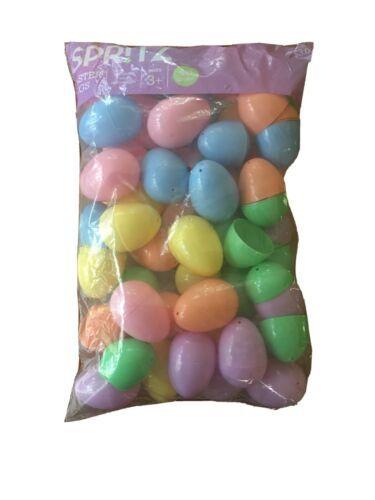 48ct Plastic Easter Fillable Eggs - Spritz